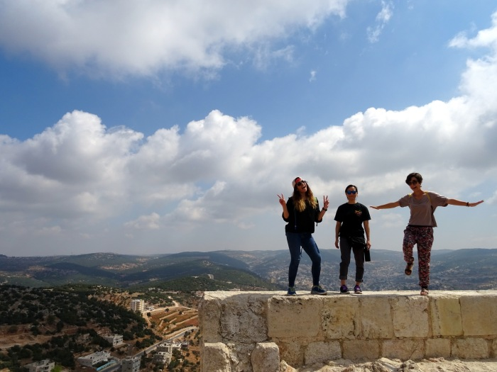 Balancing on Ajloun Castle ;)